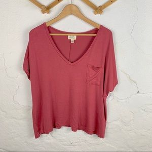 3/20$ Project Social T NWT V Neck Front Pocket Tee